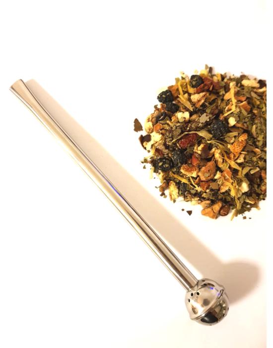 Bombila slamka za mate čaj
