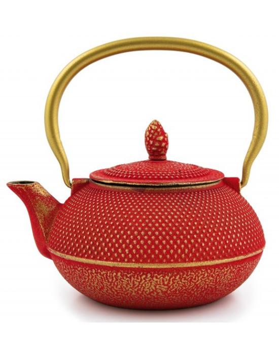 Čajnik gusani crveno zlatni 0.9 l