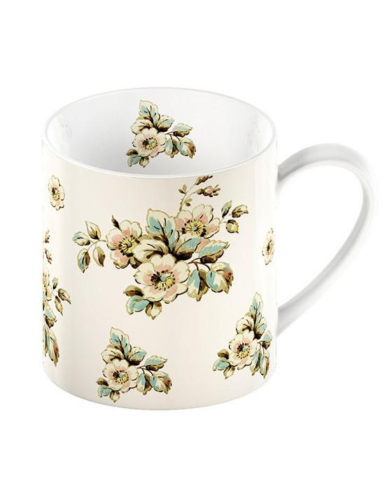 Šalica Cream floral